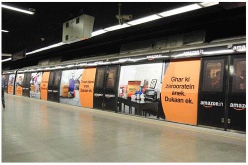 DMRC Advertising - Train Wrap