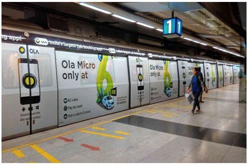 Delhi Metro Advertising – Train Wrap