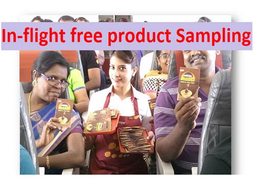 In-Flight Free Product Sampling