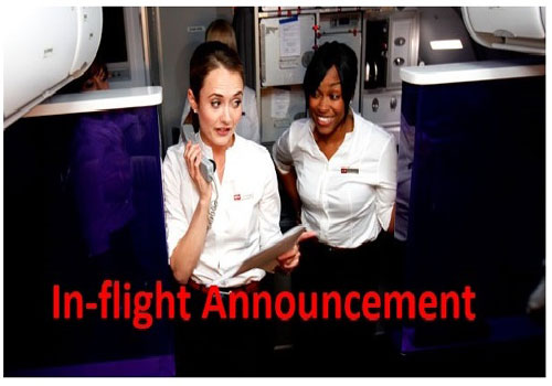 In-Flight Announcement