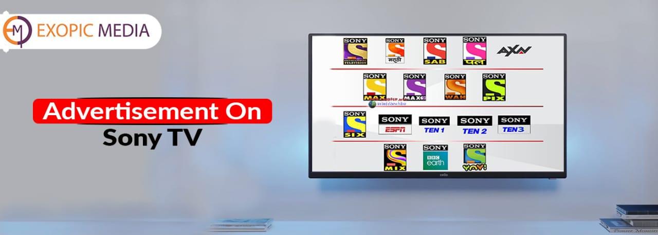 Sony TV Advertising rates India